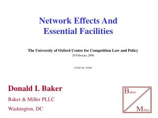 Network Effects And  Essential Facilities