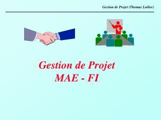 Gestion de Projet (Thomas Loilier)