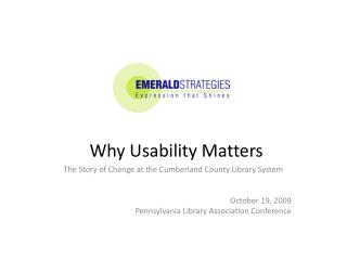 Why Usability Matters
