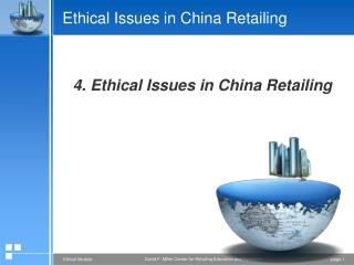 Ethical Issues in China Retailing