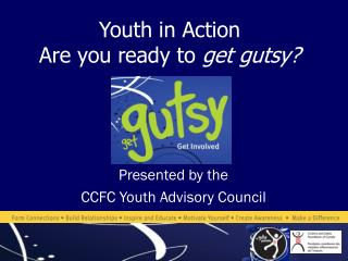 Youth in Action Are you ready to  get gutsy?