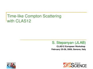 Time-like Compton Scattering with CLAS12