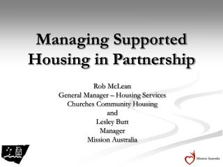 Managing Supported Housing in Partnership