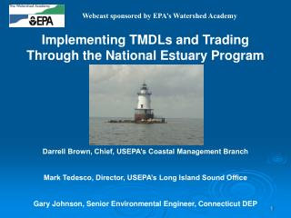 Implementing TMDLs and Trading Through the National Estuary Program