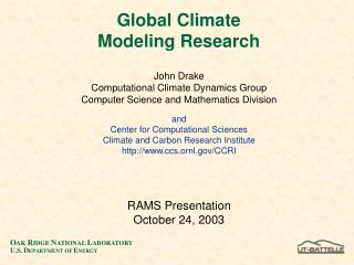 Global Climate Modeling Research
