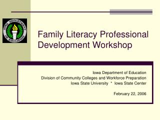 Family Literacy Professional Development Workshop