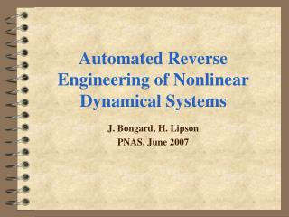 Automated Reverse Engineering of Nonlinear Dynamical Systems