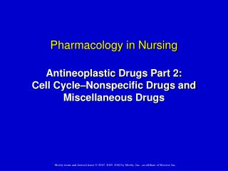 Cancer Drugs: Antineoplastic Medications