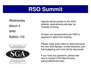 RSO Summit