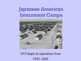 Japanese American Internment Camps