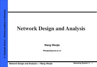 Network Design and Analysis
