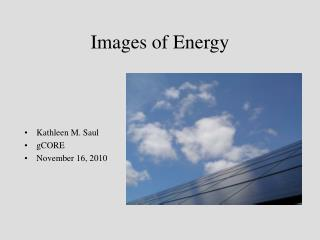 Images of Energy