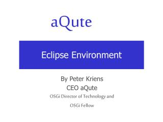 Eclipse Environment
