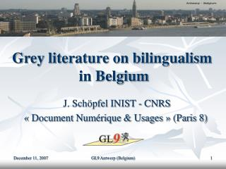 Grey literature on bilingualism  in Belgium