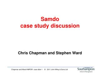 Samdo  case study discussion