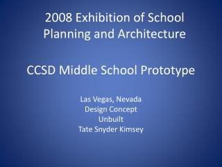 CCSD Middle School Prototype