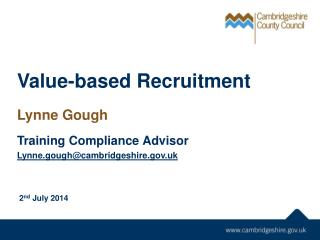 Value-based Recruitment