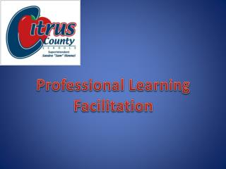 Professional Learning Facilitation