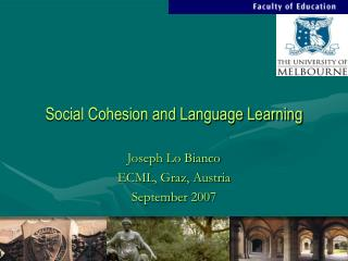 Social Cohesion and Language Learning