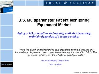 Patient Monitoring Analyst Team Frost & Sullivan