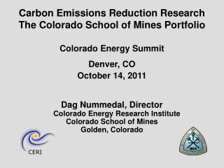 Colorado Energy Summit Denver, CO October 14, 2011