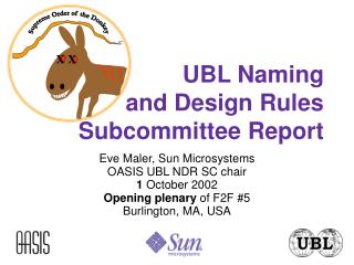 UBL Naming and Design Rules Subcommittee Report