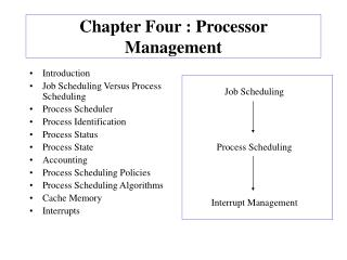 Chapter Four : Processor Management