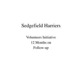 Sedgefield Harriers