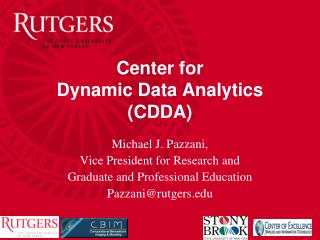Center for  Dynamic Data Analytics (CDDA)