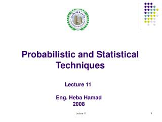 Probabilistic and Statistical Techniques