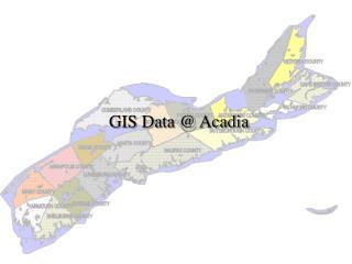 GIS Data @ Acadia