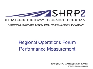 Regional Operations Forum Performance Measurement