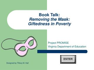Book Talk: Removing the Mask: Giftedness in Poverty