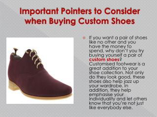 Important Pointers to Consider when Buying Custom Shoes | me