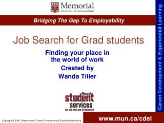 Job Search for Grad students