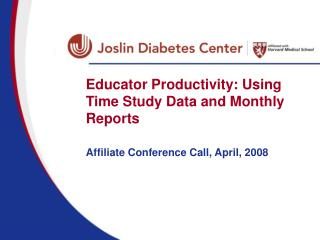 Educator Productivity: Using Time Study Data and Monthly Reports