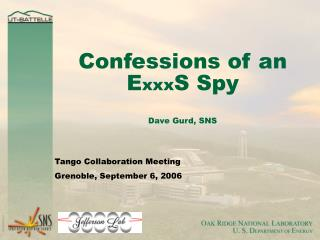 Confessions of an E xxx S Spy Dave Gurd, SNS