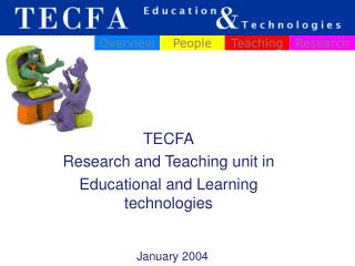 TECFA Research and Teaching unit in Educational and Learning technologies