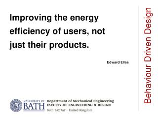 Improving the energy efficiency of users, not just their products.