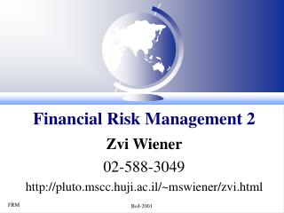 Financial Risk Management 2