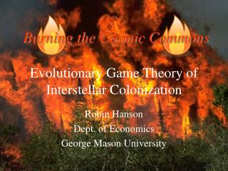 Evolutionary Game Theory of Interstellar Colonization