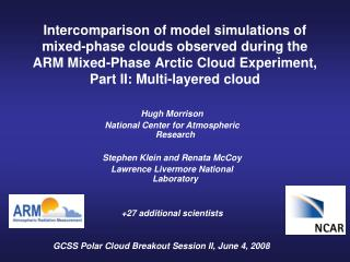 GCSS Polar Cloud Breakout Session II, June 4, 2008