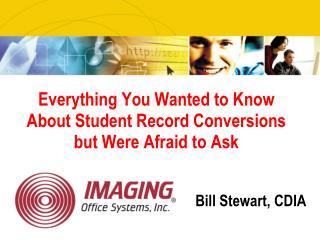 Everything You Wanted to Know About Student Record Conversions but Were Afraid to Ask