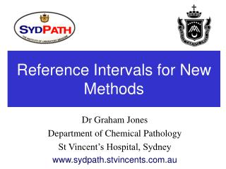 Reference Intervals for New Methods