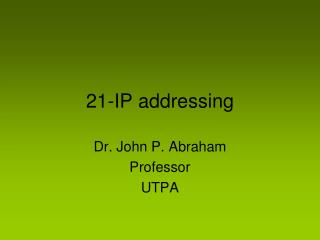 21-IP addressing
