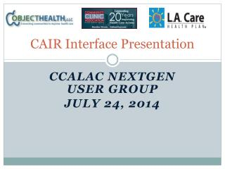 CAIR Interface Presentation