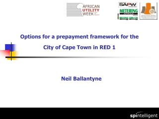 Options for a prepayment framework for the City of Cape Town in RED 1