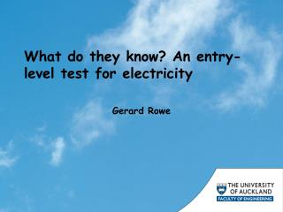What do they know? An entry-level test for electricity