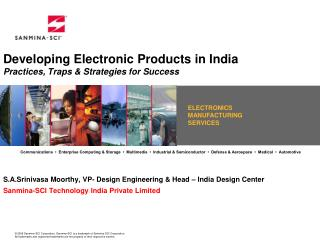 Developing Electronic Products in India Practices, Traps & Strategies for Success