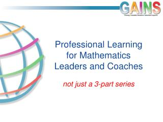 Professional Learning for Mathematics Leaders and Coaches